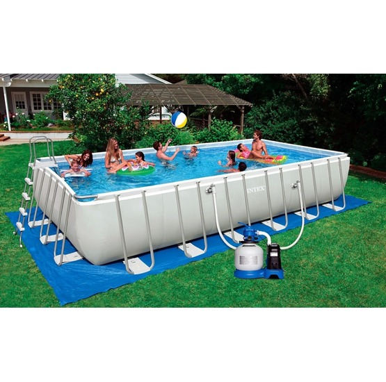 Piscina intex fuori terra ultra metal 732 x 366 x 132 con for Intex piscine ricambi