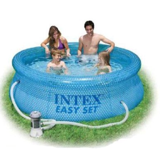 Piscina intex fuoriterra easy clearview 244 x 76 cm con for Intex piscine ricambi