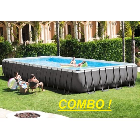 Piscina intex fuori terra ultra metal 975 x 488 x 132 for Ricambi intex piscine fuori terra