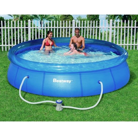 Piscina bestway fast set pool 366 x 76 for Coperture piscine fuori terra bestway
