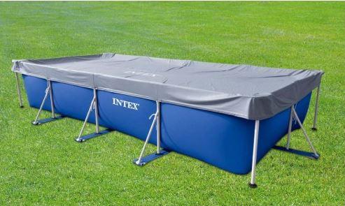 Intex telo copertura copripiscina 450 x 220 universale for Coperture piscine fuori terra bestway