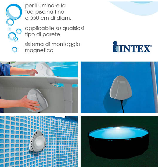 Luce led a parete per piscina intex fuori terra for Intex accessori