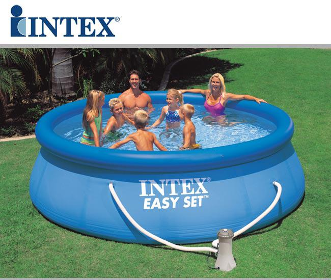Intex swimming pool 28142 easy set 13 39 x 33 396 x 84 for Piscine intex