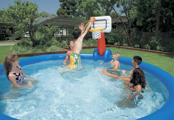 Rete volleyball e basketball con palla per piscine intex easy - Piscine gonfiabili per bambini toys ...