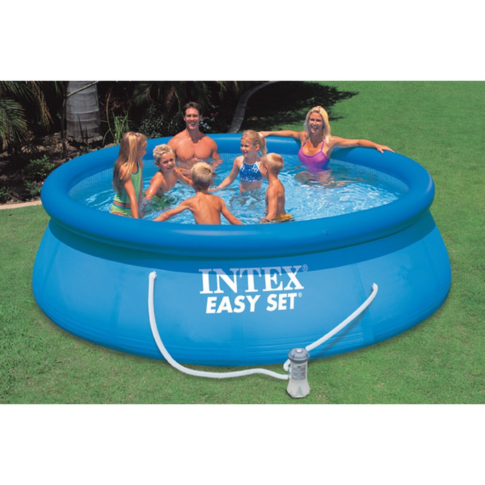 Piscina intex easy 396 x 84 cm con pompa filtro for Piscine portante
